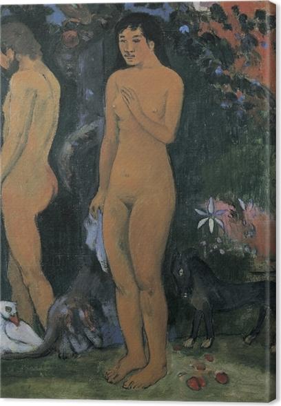 Tableau sur toile Paul Gauguin - Adam et Ève - Reproductions