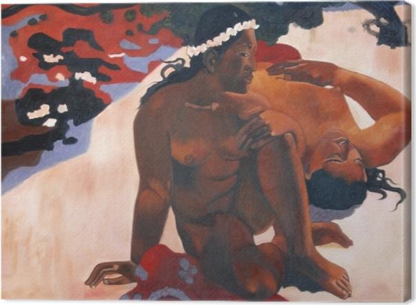 Tableau sur toile Paul Gauguin - Aha oe feii? (Eh quoi ! tu es jalouse ?) - Reproductions