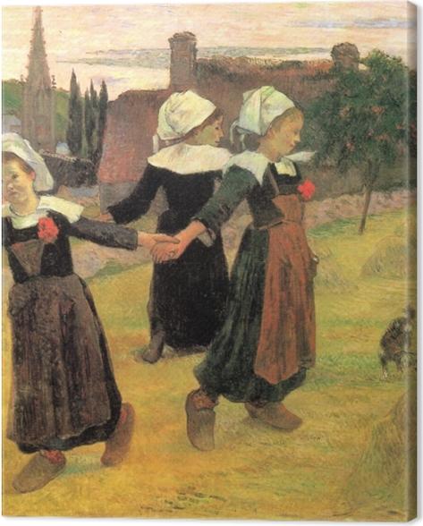 Tableau sur toile Paul Gauguin - Bretonnes dansant, Pont-Aven - Reproductions