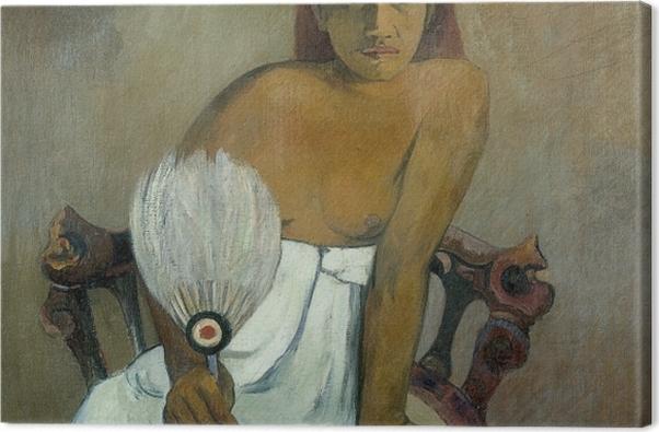 Tableau sur toile Paul Gauguin - Fille avec un ventilateur - Reproductions