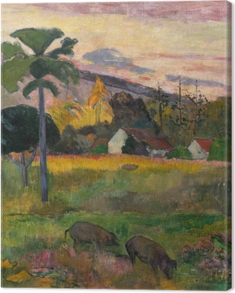 Tableau sur toile Paul Gauguin - Haere mai (Viens ici) - Reproductions