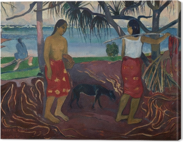 Tableau sur toile Paul Gauguin - I Raro te Oviri (Sous le Pandanus) - Reproductions