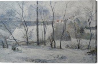 Tableau sur toile Paul Gauguin - Jardin sous la neige I