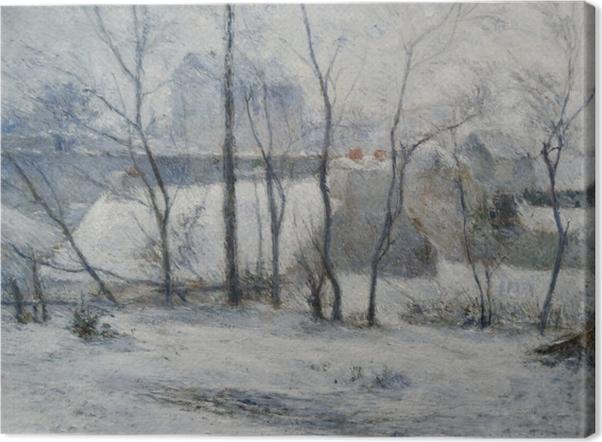 Tableau sur toile Paul Gauguin - Jardin sous la neige I - Reproductions