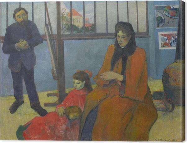 Tableau sur toile Paul Gauguin - L'atelier de Schuffenecker - Reproductions