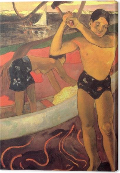 Tableau sur toile Paul Gauguin - L'Homme à la hache - Reproductions
