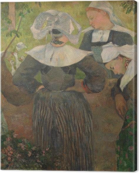 Tableau sur toile Paul Gauguin - La danse des quatre bretonnes - Reproductions