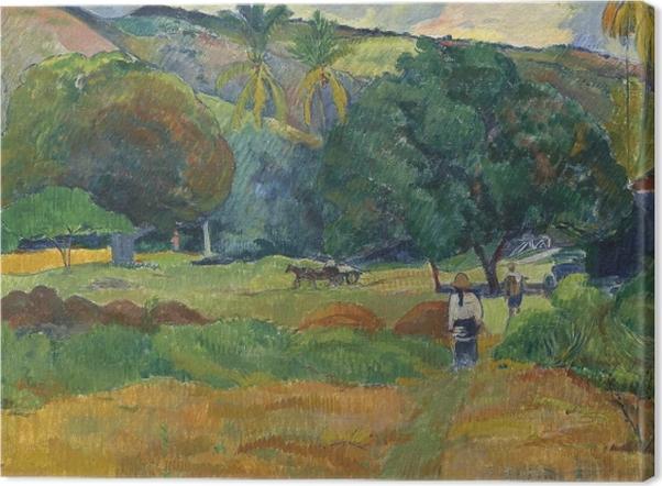 Tableau sur toile Paul Gauguin - La vallée - Reproductions