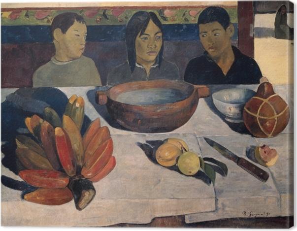 Tableau sur toile Paul Gauguin - Le repas - Reproductions
