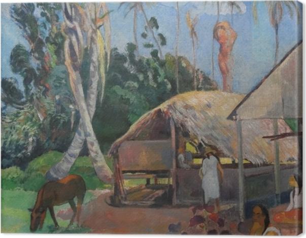 Tableau sur toile Paul Gauguin - Les cochons noirs - Reproductions