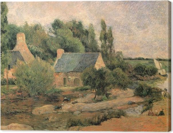 Tableau sur toile Paul Gauguin - Les lavandières à Pont-Aven - Reproductions