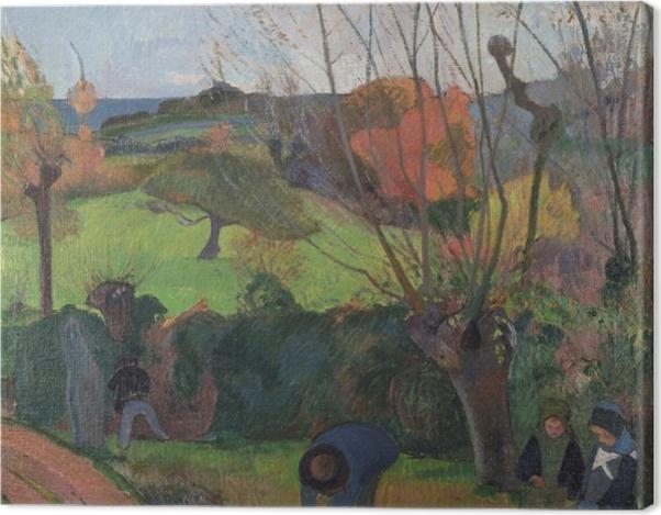 Tableau sur toile Paul Gauguin - Les Saules - Reproductions