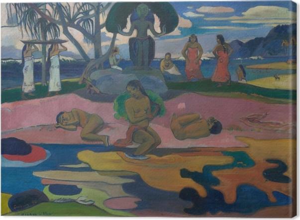 Tableau sur toile Paul Gauguin - Mahana no atua (Le Jour de Dieu) - Reproductions