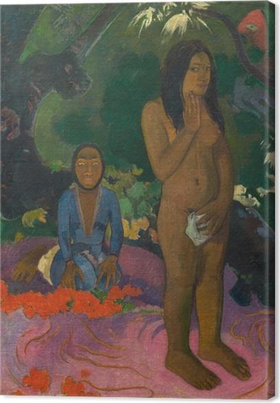 Tableau sur toile Paul Gauguin - Mahna no varua ino (Le diable parle) - Reproductions