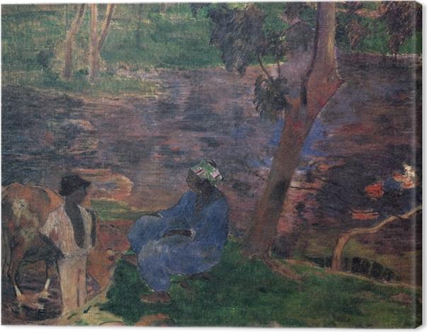 Tableau sur toile Paul Gauguin - Martinique (Am Teichufer) - Reproductions