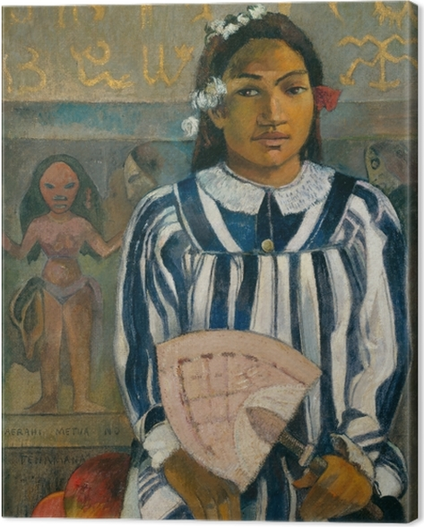 Tableau sur toile Paul Gauguin - Merahi metua no Tehamana (Teha'amana a plusieurs parents) - Reproductions