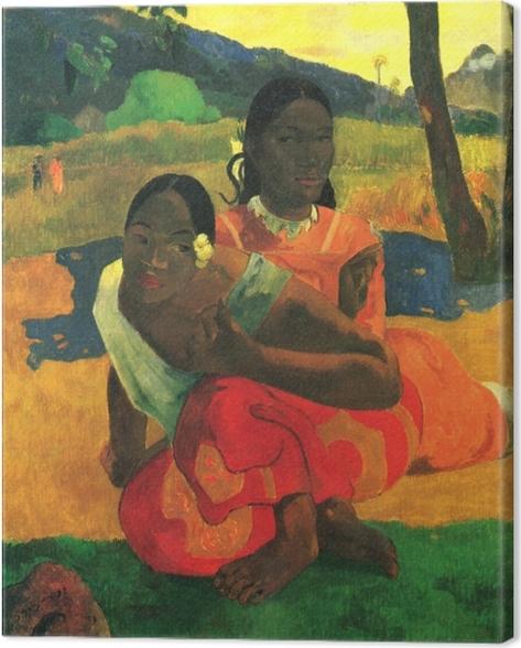 Tableau sur toile Paul Gauguin - Nafea faa ipoipo? (Quand te maries-tu?) - Reproductions