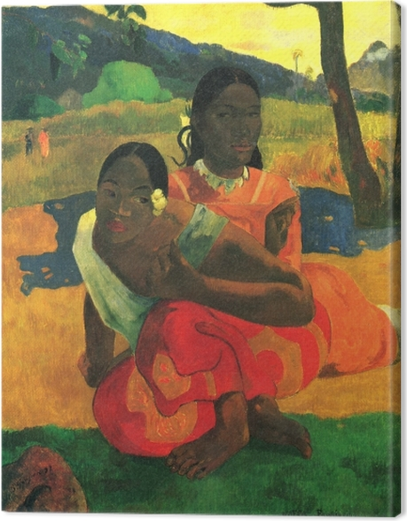 Tableau sur toile Paul Gauguin - Nafea faa ipoipo? (Quand te maries-tu?) - Reproductions