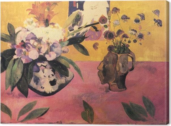 Tableau sur toile Paul Gauguin - Nature morte à l'estampe japonaise - Reproductions