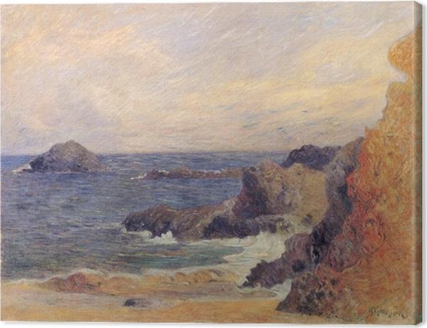 Tableau sur toile Paul Gauguin - Rochers au bord de la mer - Reproductions