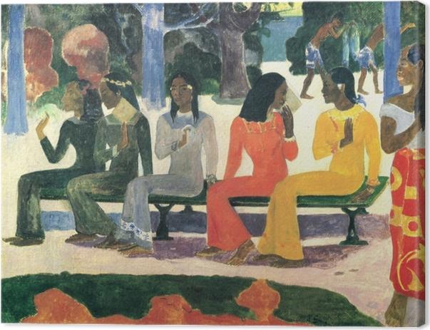 Tableau sur toile Paul Gauguin - Ta Matete (Nous n'irons pas au marché aujourd'hui) - Reproductions