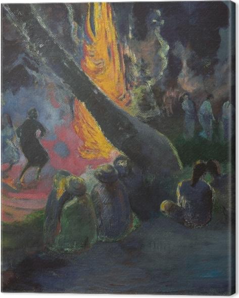 Tableau sur toile Paul Gauguin - Upa Upa (La danse du feu) - Reproductions
