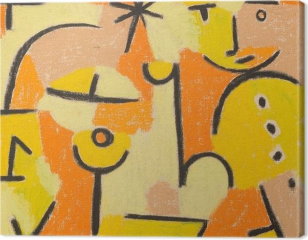 Tableau sur toile Paul Klee - Figure en jaune - Reproductions