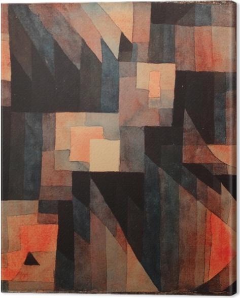 Tableau sur toile Paul Klee - Gradation, rouge-vert - Reproductions
