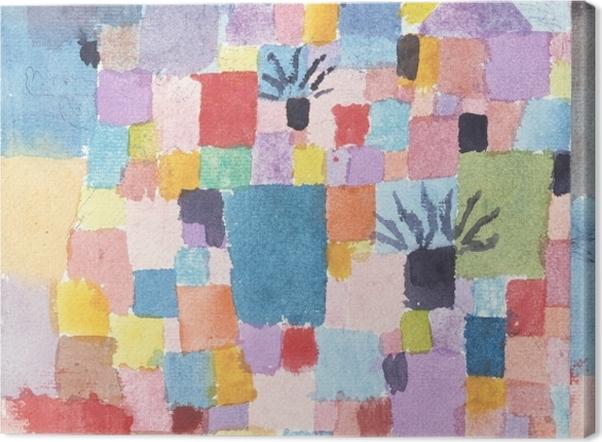 Tableau sur toile Paul Klee - Jardins Tunisiens - Reproductions
