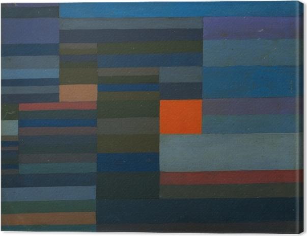 Tableau sur toile Paul Klee - Le Feu le soir - Reproductions