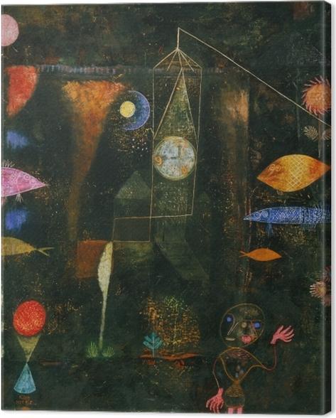 Tableau sur toile Paul Klee - Magie des poissons - Reproductions