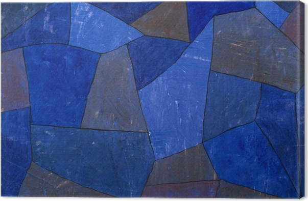 Tableau sur toile Paul Klee - Rocks at Night - Reproductions