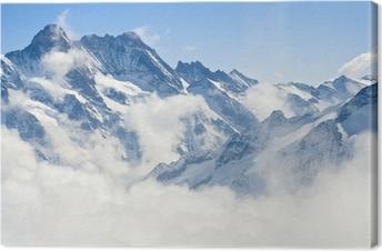 Tableau sur Toile Paysage de montagne dans les Alpes