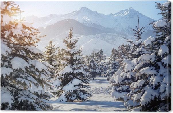 tableau sur toile paysage de montagne en hiver pixers. Black Bedroom Furniture Sets. Home Design Ideas