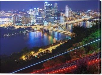 Tableau sur toile Paysage urbain de Pittsburgh
