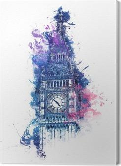 Tableau sur toile Peinture colorée d'aquarelle de Big Ben