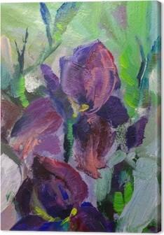 Tableau sur Toile Peinture nature morte peinture à l'huile texture, iris impressionisme un