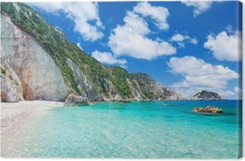 Tableau sur toile Petani beach, kefalonia, grèce