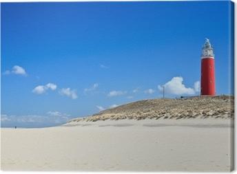 Tableau sur toile Phare dans les dunes de la plage
