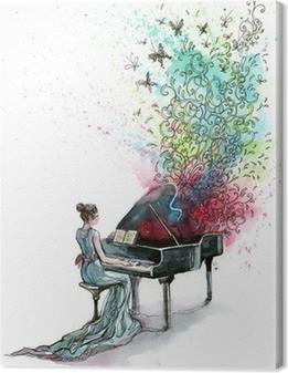 Tableau sur toile Piano musique (série C)