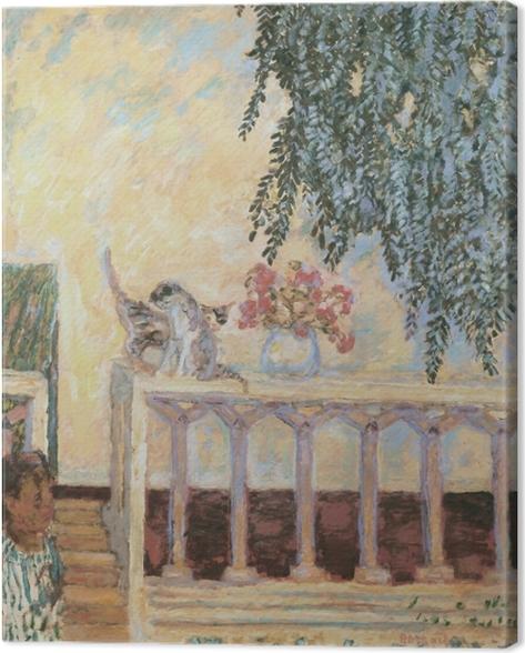 Tableau sur toile Pierre Bonnard - Chats sur la balustrade - Reproductions