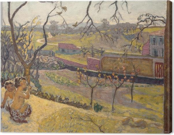 Tableau sur toile Pierre Bonnard - Début du printemps. Petits Faunes - Reproductions