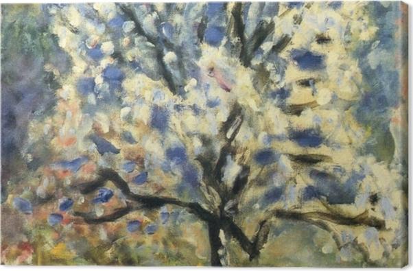 Tableau sur toile Pierre Bonnard - L'amandier à la fleur - Reproductions