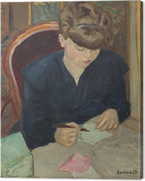 Tableau sur toile Pierre Bonnard - La lettre - Reproductions