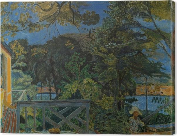 Tableau sur toile Pierre Bonnard - La terrasse de Vernon - Reproductions