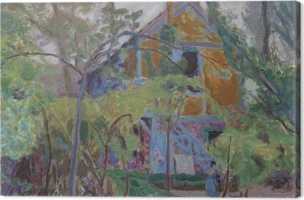 Tableau sur toile Pierre Bonnard - Maison parmi les arbres - Reproductions