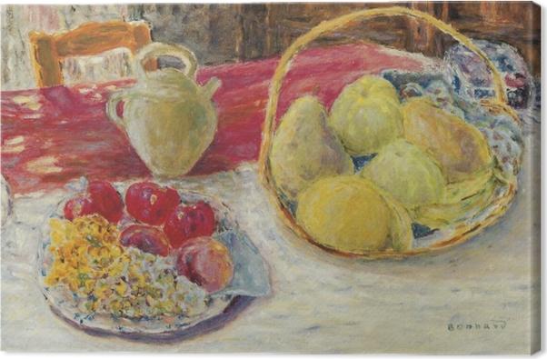 Tableau sur toile Pierre Bonnard - Nature morte de fruits dans le soleil - Reproductions