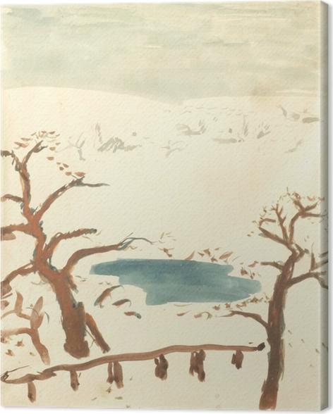 Tableau sur toile Pierre Bonnard - Paysage d'hiver - Reproductions