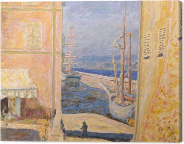 Tableau sur toile Pierre Bonnard - Vue sur le Vieux Port, Saint-Tropez - Reproductions