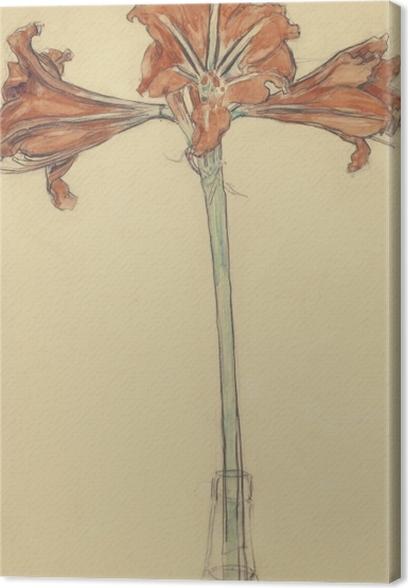 Tableau sur toile Piet Mondrian - Amaryllis - Reproductions